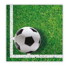 Papirservietter Procos Fotball 20 stk, 33x33cm