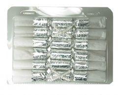 Knallbon-bon Sølv/Hvit 6 stk med sløyfe