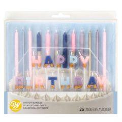 Lys Pastell HappyBirthday set 25 dl