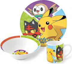 Barnesett i keramikk 3 deler, Pokemon