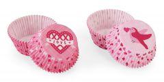 Muffinsform STD Valentine Love Birds, 48 stk