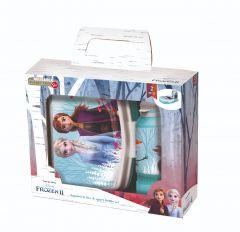 Gavesett Frozen matboks og drikkeflaske 420ml plas