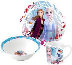 Barnesett i keramikk 3 deler, Frozen 2