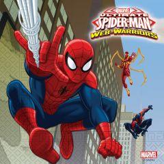 Papirservietter Spiderman Web 20 stk, 33x33cm