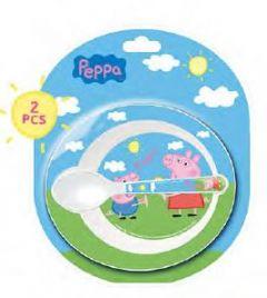Gavesett Peppa Pig, Tallerken/Skje Microsett