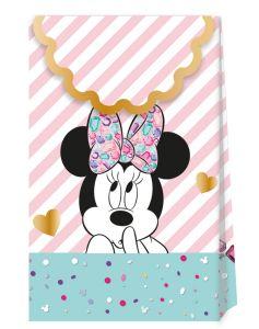 Gavepose i papir Minnie Gem, 6 stk