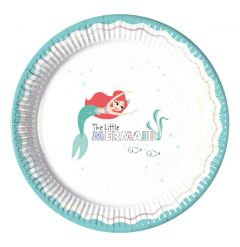 Papptallerken Ariel under the Sea 23 cm, 8 stk