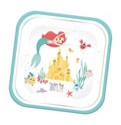 Papptallerken Ariel under the Sea Square 24 cm,