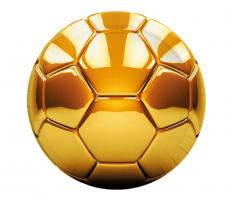Papptallerken Fotball Gull 23 cm, 8 stk