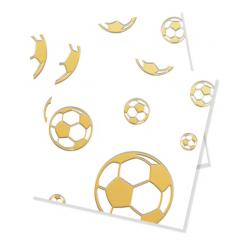Papirservietter Fotball Gull 15 stk, 33x33cm