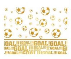 Plastduk Fotball Gull 120x180cm