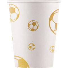 Drikkekrus i papp, Fotball Gull 8 stk