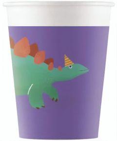 Drikkekrus i Papp, Dinosaur Roar 8 stk