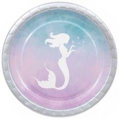 Papptallerken Mermaid Elegant 23 cm, 8 stk