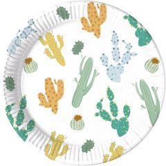 Papptallerken Kaktus 23 cm, 8 stk COMPOSTABLE