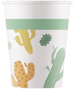 Drikkekrus i Papp, Cactus 8 stk COMPOSTABLE