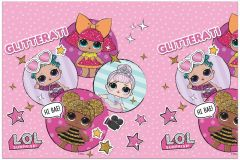 Plastduk LOL Glitter 120x180cm