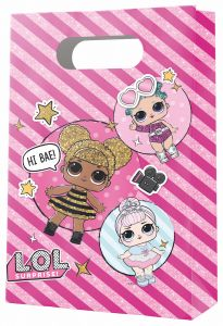Gavepose i papir LOL Glitter, 4 stk