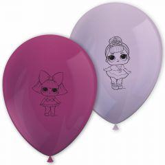 Ballonger LOL Glitter, 8 stk