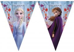 Flaggrekke Frozen 2 Destiny Awaits i plast, 9 flag