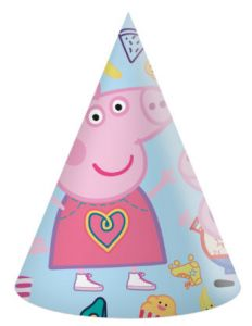 Party Hatter Peppa Pig 6 stk