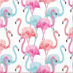 Papirservietter Flamingo Compostable 20 stk, 33x33