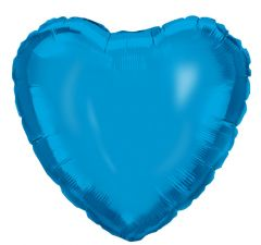 Ballong Hjerte Blå Folie 46 cm