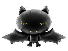 Ballong Flaggermus Sort Folie 80x52cm