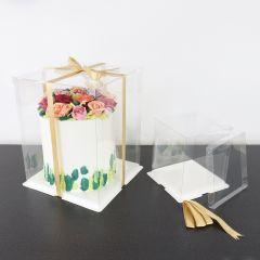 Kakeboks Klar plast med brett Ø 25 cm, H 28 cm
