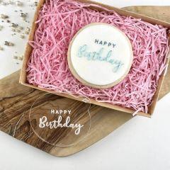 Swirls and Curls Happy Birthday Cookie Embosser