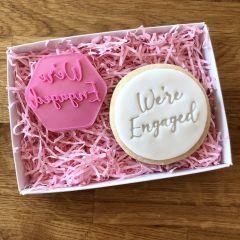 We're Engaged Cookie Stamp