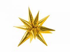Ballong Stjerne Gull Folie 70cm