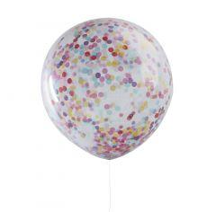 Ballong med Confetti ass 90 cm, 3 stk