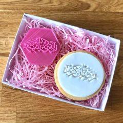 Ramadan Mubarak Calligraphy Cookie Stamp 6W