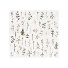 Servietter Tea Floral, 16 stk, 12,5 cm